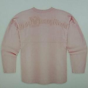 Disney World spirit jersey extra small pink glitte